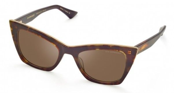 Солнцезащитные очки DITA SHOWGOER DTS513-50-02 DARK TORTOISE-BURNT BROWN BACK - WHITE GOLD