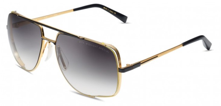 Солнцезащитные очки DITA MIDNIGHT SPECIAL DRX-2010-M-BLK-GLD-60 YELLOW GOLD - MATTE BLACK