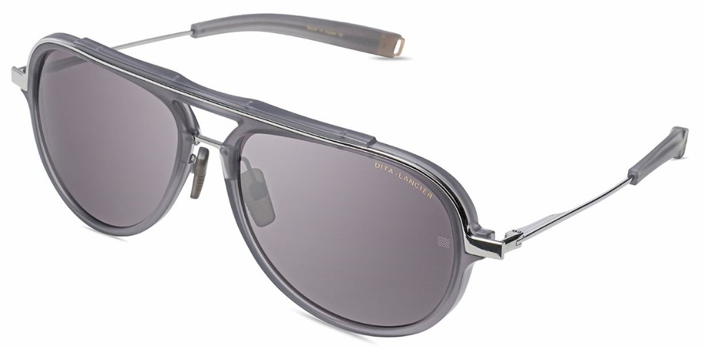 Солнцезащитные очки LANCIER LSA-406 DLS406-A-02 MATTE CRYSTAL GREY-BLACK PALLADIUM